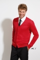 so90011 SOLS MENS V-NECK KNITTED CARDIGAN