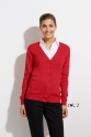 so90012 SOLS WOMENS V-NECK KNITTED CARDIGAN
